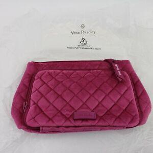 Vera Bradley Majestic Magenta Plush Velvet Compact Organizer Bag NEW