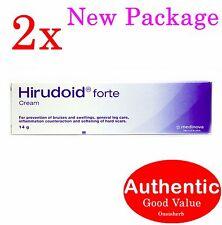 2X Hirudoid Forte cream 14g  Medinova Bruise Scar (New!)