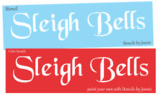 Stencil Sleigh Bell Vintage font Christmas Winter Country Primitive Sign U Paint