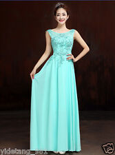 Beautiful Long Chiffon Bridesmaid Evening Formal Party Ball Gown Prom Dress Z5