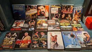 PRO WRESTLING Books Lot of 19 books. WWE WWF WCW ECW Jesse Ventura Mick Foley
