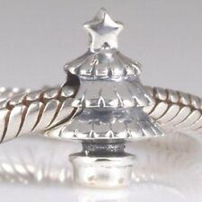 Christmas Tree 925 Sterling Silver Charm Bead