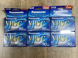 Lot Of 3 - 2pk Panasonic TC-30 Super High Grade 90 min Tapes VHS-C Sealed NEW