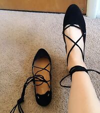 Nine West Strap Ballet Flats, Black, New in Box, 9.5