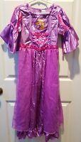 DIisney Store Dress Up Princess Rapunzel Tangled Costume Girl Size 7/8 Purple