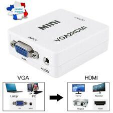 Mini adaptateur VGA vers HDMI convertisseur 1080p VGA2HDMI