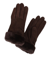 UGG Womens Brown Suede Gloves Sz Medium 5720