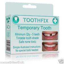 Tooth repair material missing tooth replace temporary false teeth cosmetic DIY