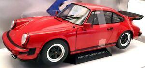Solido 1/18 Scale Model Car S1802604 - Porsche 911 (930) Carrera 3.3L - Red