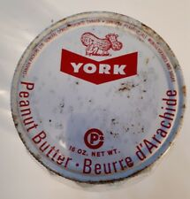 "RARE CANADIAN (TORONTO, ONT) ""YORK PEANUT BUTTER"" SHAPED JAR W/ LID - NO LABEL"
