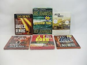 Audio book CD lot of 6 Live Wire Loyalty In Death Shadow Zone The Killer Angels