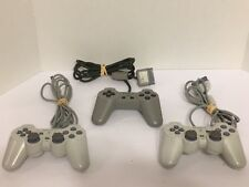 LOT of 3 Sony Playstation Controllers (2) SCPH 110, (1) SCPH-1080 Tested