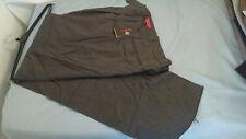 Raspinni Red Mens Charcoal  Dress Pants 100% Wool Trousers Slacks 34x37unhemmed