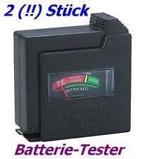 2 (!!) Stück Universal Batterietester FHT-6862x2 für AAA,AA,9-Volt-Block, Knopf