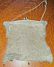 Antique Victorian Chain Mail German Silver Mesh HANDBAG