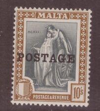 Malta 1926 Postage 10 shillings MINT NEVER HINGED  SG 156