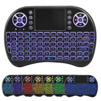 Mini Keyboard Air Mouse 7 Colors Backlight 2.4GHz Wireless For Android TV Box~~