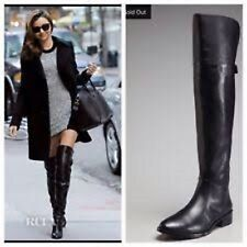 NEW Gorgeous BCBG Black Leather Vespucci Over the Knee Tall Riding Winter Boots