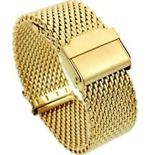 18mm Stainless Steel  Mesh Milanese Watch Band Bracelet Color Gold PVD