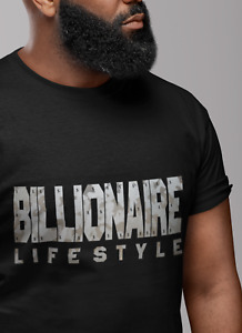 BILLIONAIRE $ Cotton Men BLACK T-SHIRT   Lifestyle Boys Club   SILVER GREY CAMO