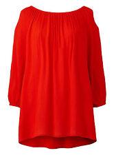 Capsule ORANGE Split Sleeve Gypsy Tunic Top Blouse - Plus Size 14 to 32