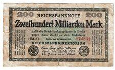 Germany 200 Billion Milliarden Mark 1923 (B405)
