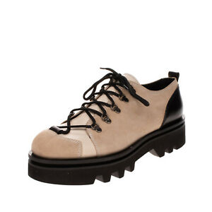 RRP €265 SACHA GAREL Suede Leather Lace-Up Shoes Size 44 UK 11 US 14 Lug Sole