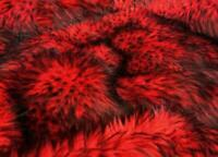 "Husky Red faux Synthetic Fur upholstery Fabric by the yard 60"" wide"