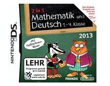 2 in 1 Mathematik und Deutsch 1.-4. Klasse 2013 Nintendo DS DSi XL 3DS 2DS Spiel