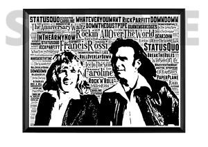 Status Quo Rick Parfitt & Francis Rossi /Keepsake/Gift/Collectable