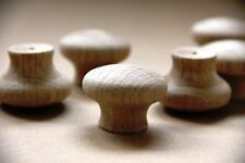 10 x 40 mm diameter Wooden Knobs DIY Cupboard Drawers RAW NATURAL OAK