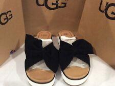 Ugg Australia Joan III Black suede Slides/ Flip Flop/ Sandals Women's size 9
