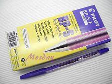 12 x Pilot BP-S 0.7mm Fine Oil Based Ball Point Pen, VIOLET