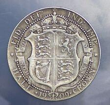 1909 silver Half crown coin Edward vii solid silver .925 rare