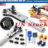 Watch Repair Back Case Opener Watchmaker Screw Cover Remover Tool Kit Watch Band