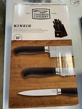 Chicago Cutlery Kinzie Cutlery Knife Block Set 14 Piece NEW