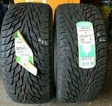245/45/17 Pair of Nokian Hakkapeliitta R2 FULL TREAD tyres 245 45 17 M+S