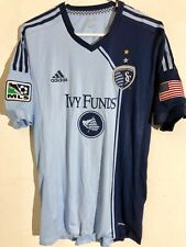 82d0d6f08ca Adidas Authentic MLS Jersey Kansas City Sporting Team Light Blue sz L