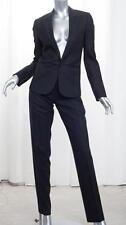 CHRISTIAN DIOR Womens Black Wool Single-Button Jacket Blazer Pant Suit 40/US 6