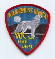 Wilderness Ranch Fire Department Patch Idaho ID