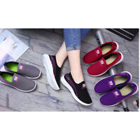 Women Ladies Running Sneakers Flat Shoes Casual Canvas Shoes Flat Loafers