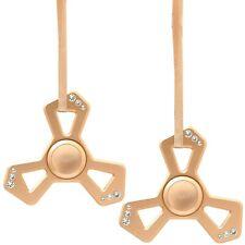 (cantidad 2) Chapado en Oro Rosa Triángulo Spinner ornamento de Navidad con cristales matashi