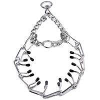 Metal Chrome Half Choke Prong Pinch Chain Collars Stops Pulling Dog Training US