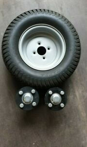 "Wheels & stub axles quad ATV trailer stud 4"" inch PCD 40x40mm shaft - set of 2."