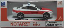 NewRay - BMW 3er Coupe weiß/rot NOTARZT 1:43 Neu/OVP Modellauto