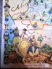 Carte CONGO BELGE - 1951 - Par Ethnie - par James Thiriar -1889-1965  - ORIGINAL