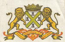 Vintage tobacco cigarette silk - Bdv Town Arms Plymouth, Series 30, lions