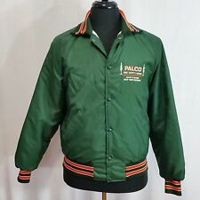 Mens Med Vintage Quilted Insulated Polyester Green Jacket Work PALCO Lumber USA
