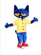 Pete The Cat  Mascot Costume Suit Cosplay Carnival Character Party Dress Outfit