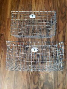 Chicken Wire Square Baskets